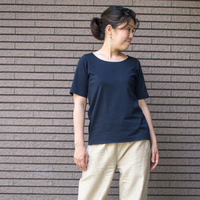 【プレゼントパターン】ポンチニットでつくるTシャツ