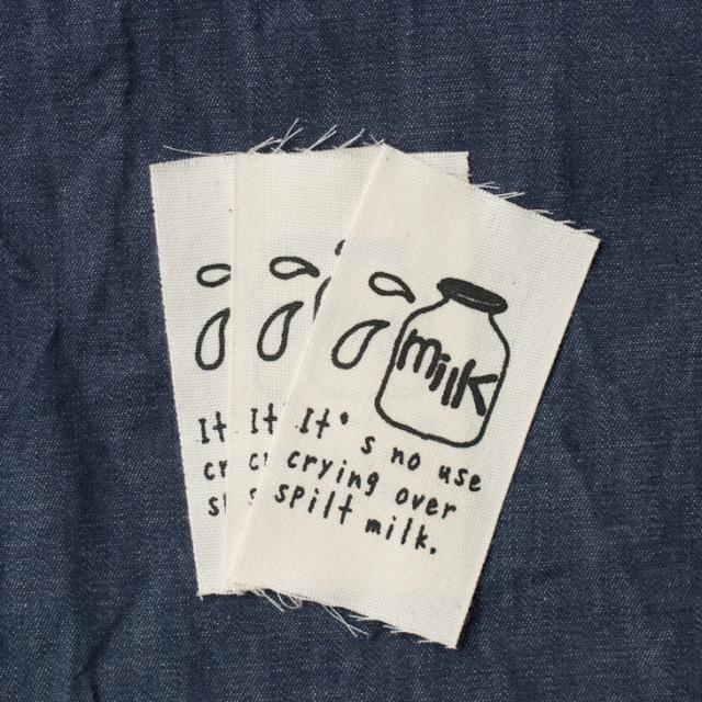 【オリジナルタグ】「Milk」 3 枚入り(テープ幅:45ミリ)