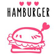 【アイロンシート】ハンバーガー(ハート)