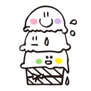 【アイロンシート】アイス三姉妹