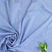 【布帛】100/2 ドビーギンガムチェク(ブルー×ホワイト)  オーダーカット