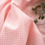 【ニット】スムースのように使えるハウンズトゥース・ジャガードニット(ピンク)オーダーカット