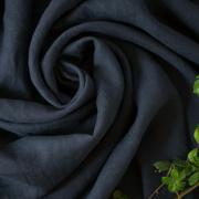 【布帛】やわらかふんわりリネン(濃藍/こいあい) オーダーカット
