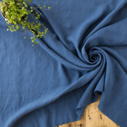 【布帛】やわらかふんわりリネン(藍) オーダーカット