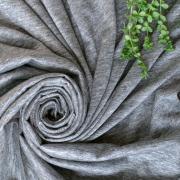 【カットクロス/70cm】リネンプレーディング天竺(濃いめのグレー)