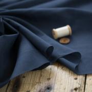 【布帛】やわらかふんわりオーガニックボイル(紺/こん)オーダーカット