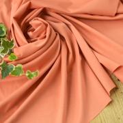 【ニット】シルケット加工なめらか薄手スムース(アプリコットオレンジ)オーダーカット