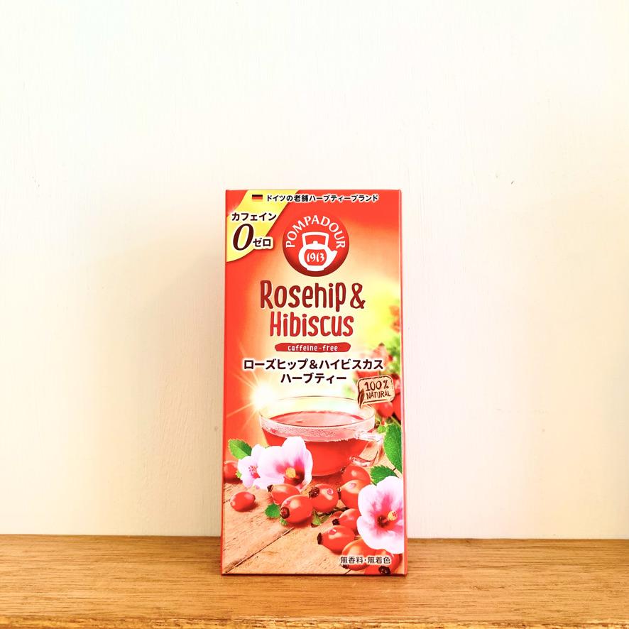 ポンパドールハーブティ【ローズヒップ&ハイビスカス】10パック