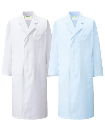 110 診察衣シングル型長袖メンズ ポプリン KAZEN・カゼン