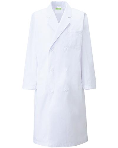 115-20 診察衣ダブル型長袖メンズ 綿100%キャラコ KAZEN・カゼン