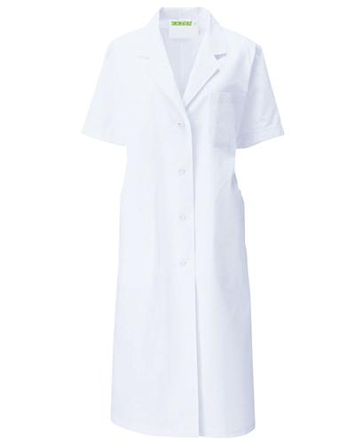122-30 診察衣シングル型半袖レディス ブロード KAZEN・カゼン