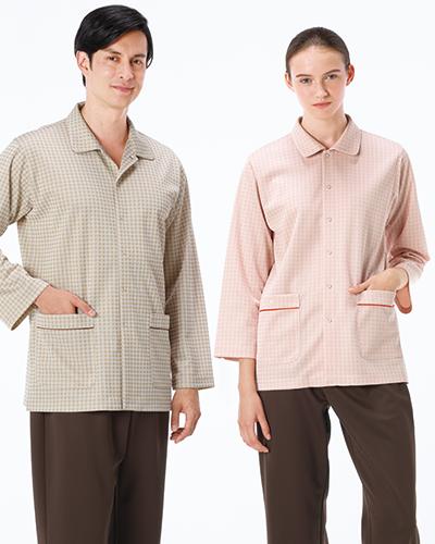 JK-1416 ナガイレーベン(nagaileben)  患者衣パジャマ型