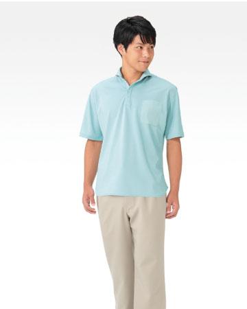 APK232 介護用ルーズフィットニットシャツ男女兼用 KAZEN・カゼン