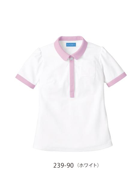 239 介護用レディスポロシャツ KAZEN・カゼン
