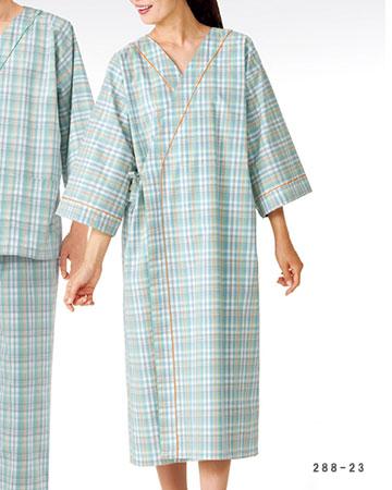288-23 患者衣ガウン男女兼用 KAZEN・カゼン