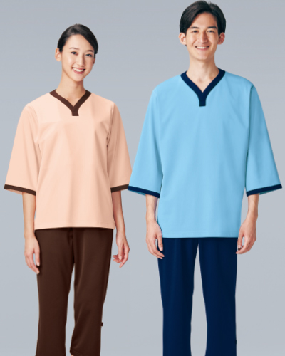 301 KAZEN(カゼン) ニット検診衣上衣(上下別売り)