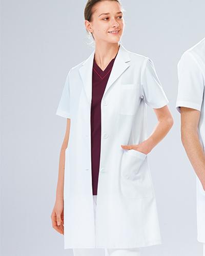 KEX-5132 ナガイレーベン(nagaileben)女子シングル半袖診察衣
