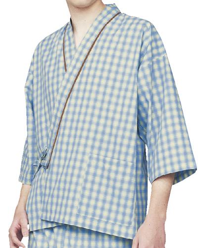 59-421_423_425 男女兼用 患者衣(8分袖・上衣のみ) MONTBLANC