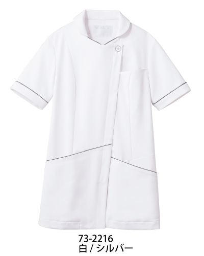 73-2216_2218 MONTBLANC ナースジャケット アシンメトリーライン