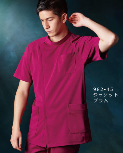 982 KAZEN(カゼン) メンズジャケット半袖 4D FITT(動体裁断)