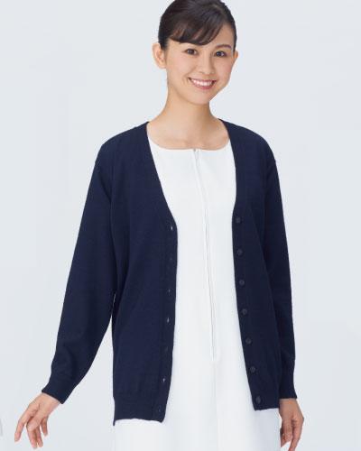 206-91 レディスカーディガン丈長 KAZEN・カゼン【QUOカードプレゼント対象商品】