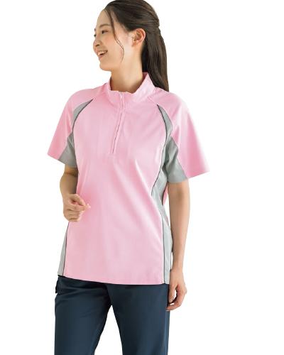 APK130 介護用ジップアップシャツ男女兼用 KAZEN・カゼン