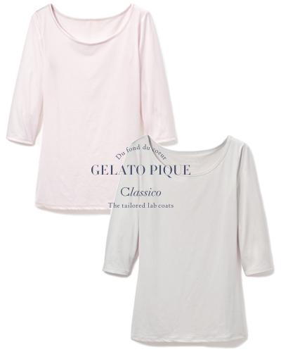 616 ジェラート ピケ & クラシコ 七分袖Tシャツ