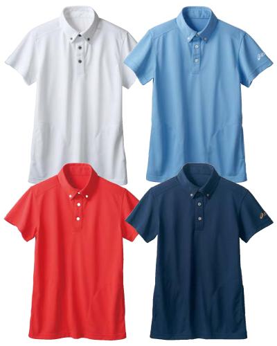 CHM308 アシックス(asics) ポロシャツ(半袖) 男女兼用