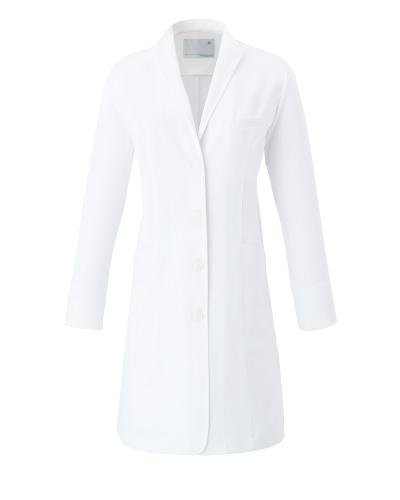 CM706 レディースコート イタリアンカラー 薬局衣 WECURE(ウィキュア)