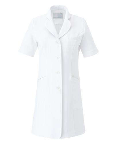 CM751 レディースコート 半袖  薬局衣 WECURE(ウィキュア)