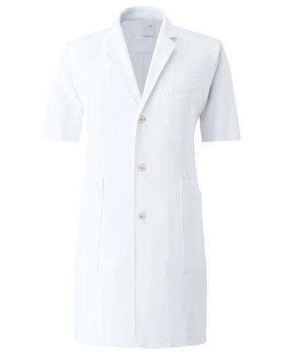 CM775 半袖メンズコート 薬局衣 WECURE(ウィキュア)