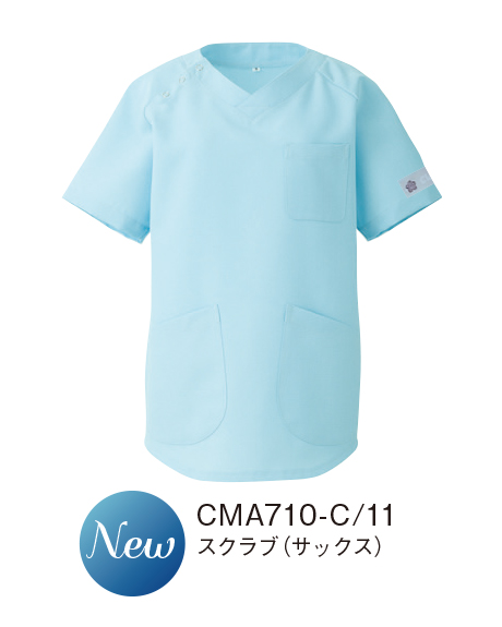 CMA710 KAZEN・カゼン  スクラブ 男女兼用