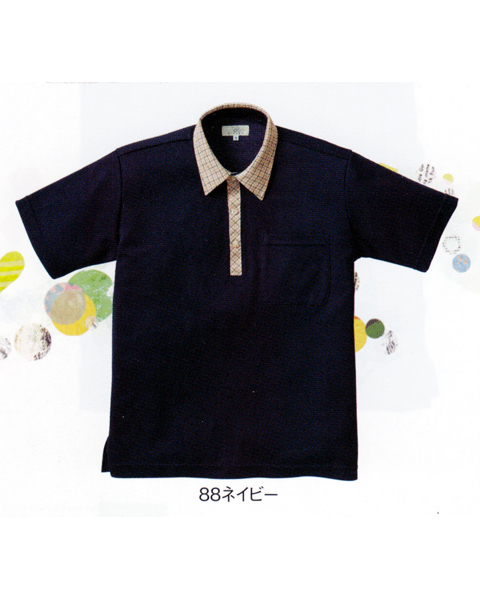 CR131 キラク(kiraku) ニットシャツ男女兼用