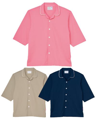 CV203 前開きシャツ 男女兼用 キラク(kiraku)