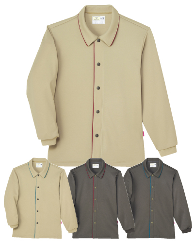 CV204 前開きシャツ(制菌加工) 男女兼用コンフォートウェア キラク(KIRAKU)
