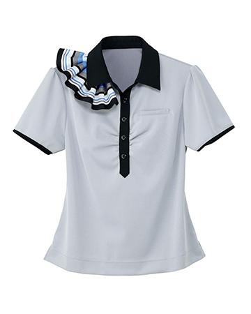 ESP-453 ハートグリーン(HEARTGREEN) ポロシャツ(ミニスカーフ付)