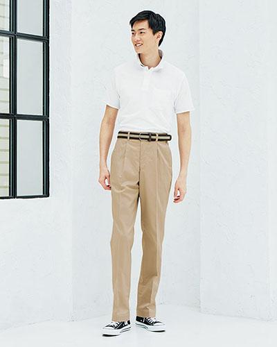 FP6704U ナチュラルスマイル 男女兼用 裾上げらくらくチノパン