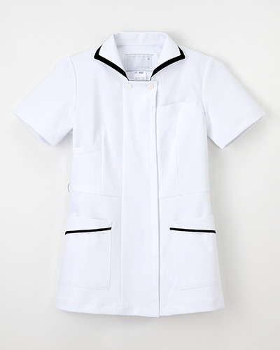 FT-4422 ナガイレーベン(nagaileben)ナースウェア上衣半袖レディス(ネイビーシリーズ)