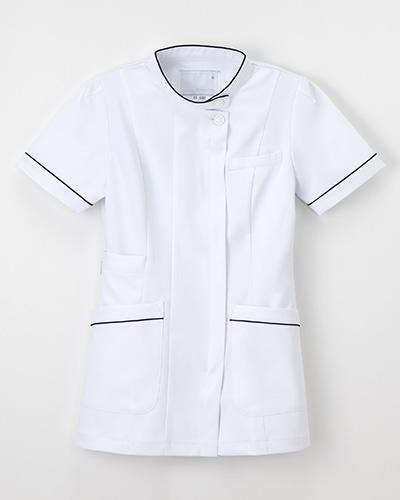 FT-4482 ナガイレーベン(nagaileben)ナースウェア上衣半袖レディス(ネイビーシリーズ)