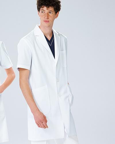 KEX-5112 ナガイレーベン(nagaileben)男子シングル半袖診察衣