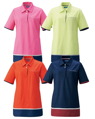 KZN233 介護用レディスニットシャツ(チュニック) KAZEN(カゼン)