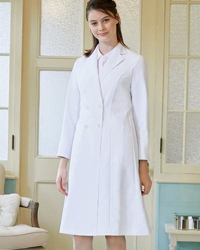 LW101 LAURA ASHLEY ドクターコート 白衣 レディス