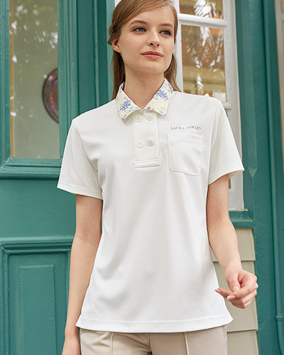 LW202 ニットシャツ 介護 レディス ローラ アシュレイ