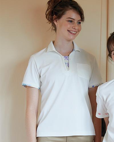 LW203 ニットシャツ 介護 レディス ローラ アシュレイ