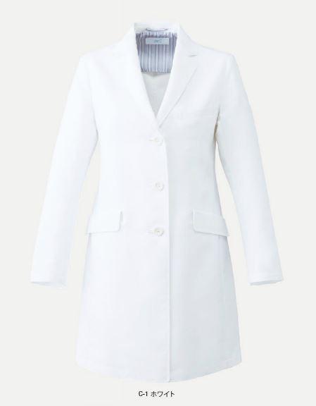 MZ-0132 ミズノ(mizuno) ドクターコート  レディス ヘリンボン素材
