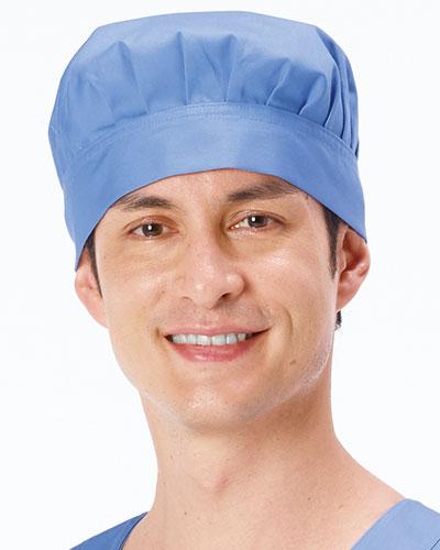 NR-508 男子手術帽(後ヒモ止め式)(マスク脱落帽子タブ付)2枚組(大)