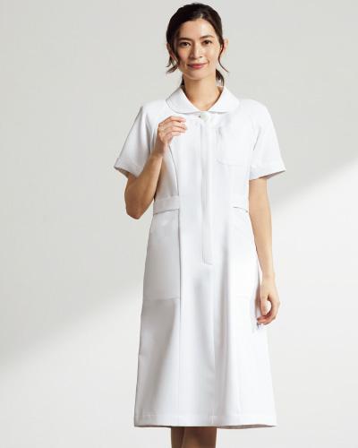 【半額セール】OP-3036 オンワード商事(ONWARD) レディスワンピース ホワイト