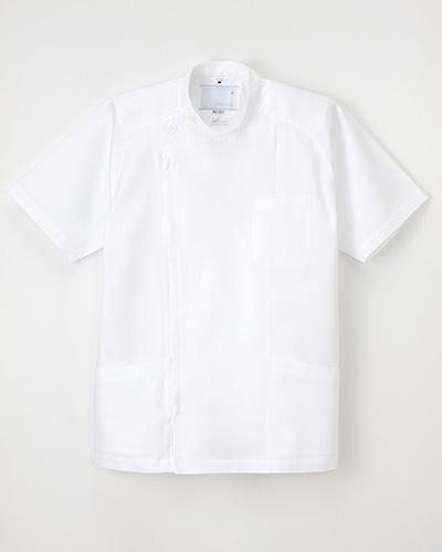 PUT-3577 ナガイレーベン(nagaileben) メンズ横掛半袖ホワイト