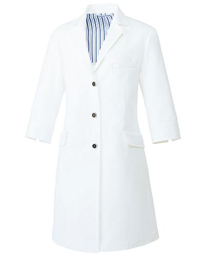 UN-0081 ユナイト レディスドクターコート(七分袖)