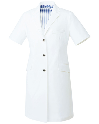 UN-0082 ユナイト レディスドクターコート(半袖)